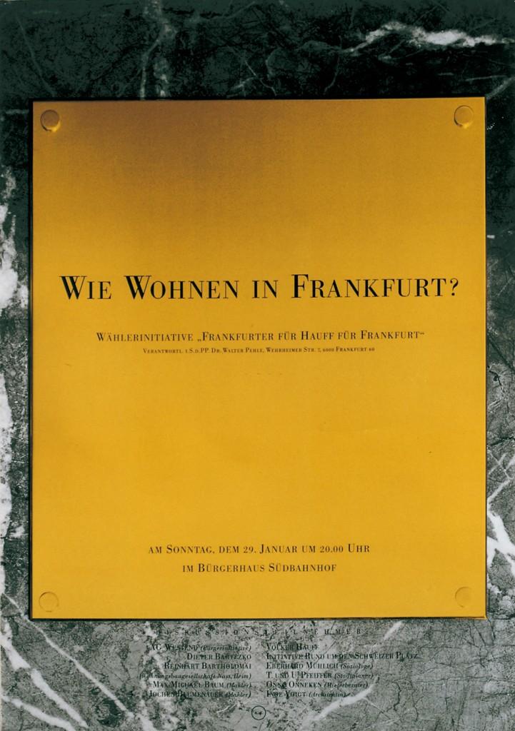 Wie wohnen in Frankfurt?