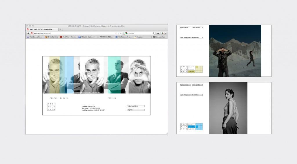 Webseitengestaltung für den Fotografen Jogi Hild – Beauty – People – Fashion