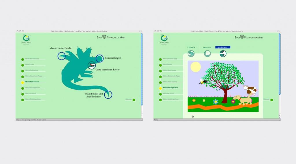 Das GrünGürtel-Tier im Internet